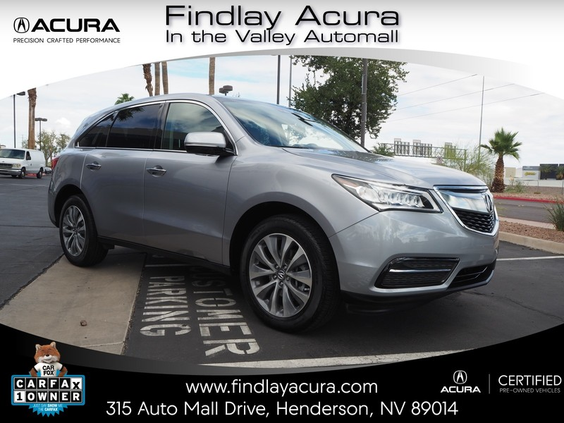 Certified PreOwned Acura MDX TECH ACURAWATCH DR In - Acura mdx pre owned