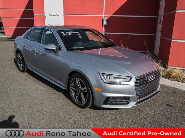 certified pre owned 2017 audi a4 2 0 tfsi auto premium plus quattro 4dr car in reno ar0477. Black Bedroom Furniture Sets. Home Design Ideas